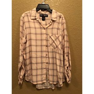 Pale Pink Flannel Button Down